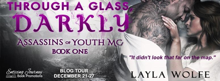 Through a glass, darKly banner